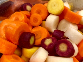 Multi colored carrots