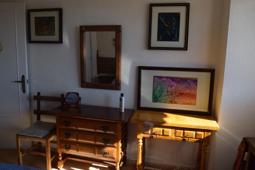 Some of her paintings at her home